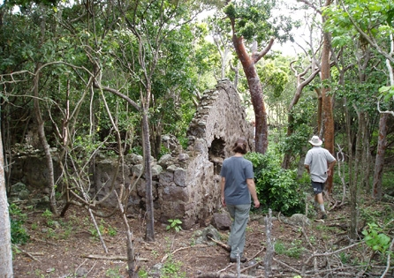 HRA crew members invistigate the remains of an early house that may have been used by escaped slaves as a refuge in the early 18th century. HRA's cultural resource management expertise extends to the Caribbean, as this project on St. Kitts reflects.